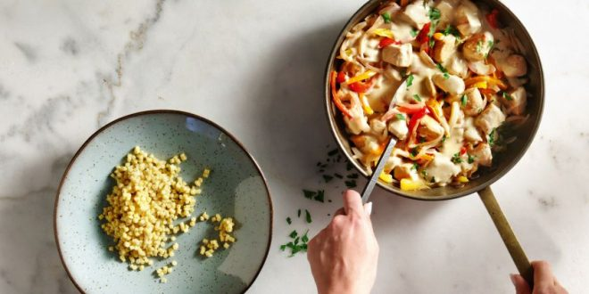 Κοτόπουλο με πιπεριές και κουσκους - BORO από την ΑΝΝΑ ΔΡΟΥΖΑ