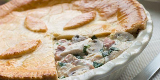 Πεντανόστιμη ανάποδη κοτόπιτα με κρέμα γάλακτος και μανιτάρια - BORO από την ΑΝΝΑ ΔΡΟΥΖΑ