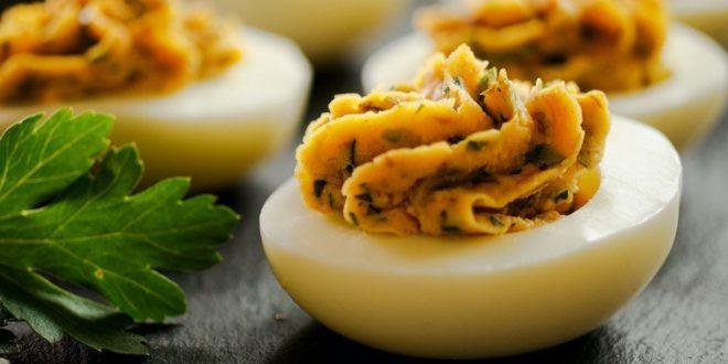 Γεμιστά αλμυρά αυγά. (Το απόλυτο Πασχαλινό ορεκτικό) - BORO από την ΑΝΝΑ ΔΡΟΥΖΑ