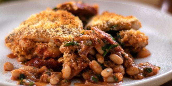Μπουκιές κοτόπουλο με τσορίθο, φασόλια και σπανάκι - BORO από την ΑΝΝΑ ΔΡΟΥΖΑ